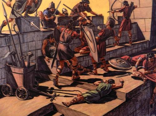 Babylonians attacking Jerusalem