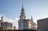 An exterior view of the Philadelphia Pennsylvania Temple during the day.