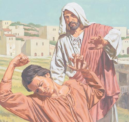 Jesus healing boy
