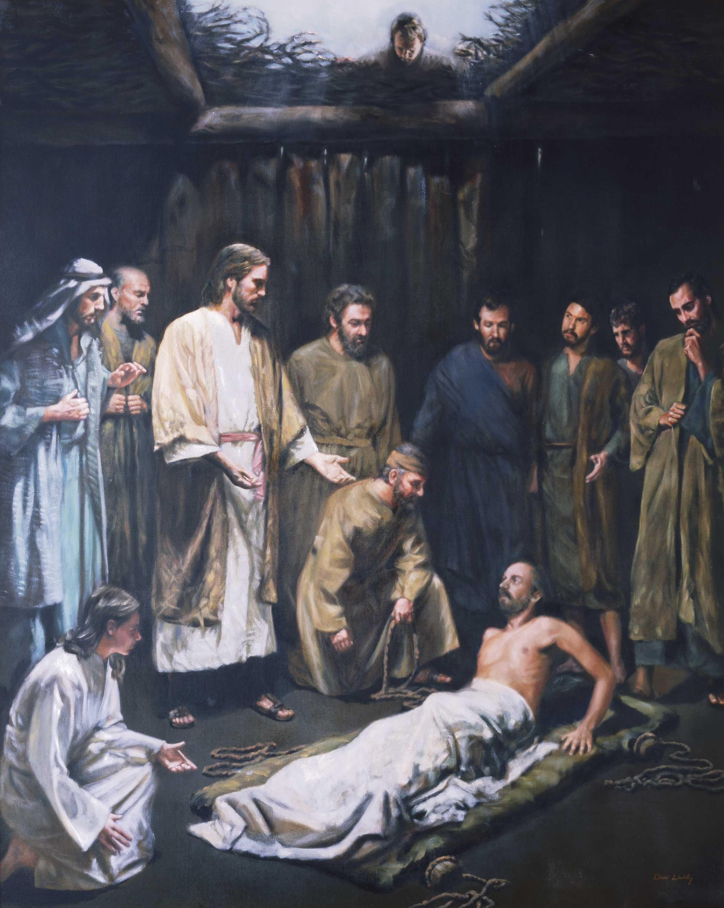 Christ healing a palsied man