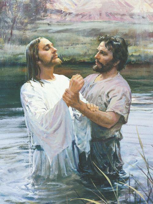 John baptizing Jesus