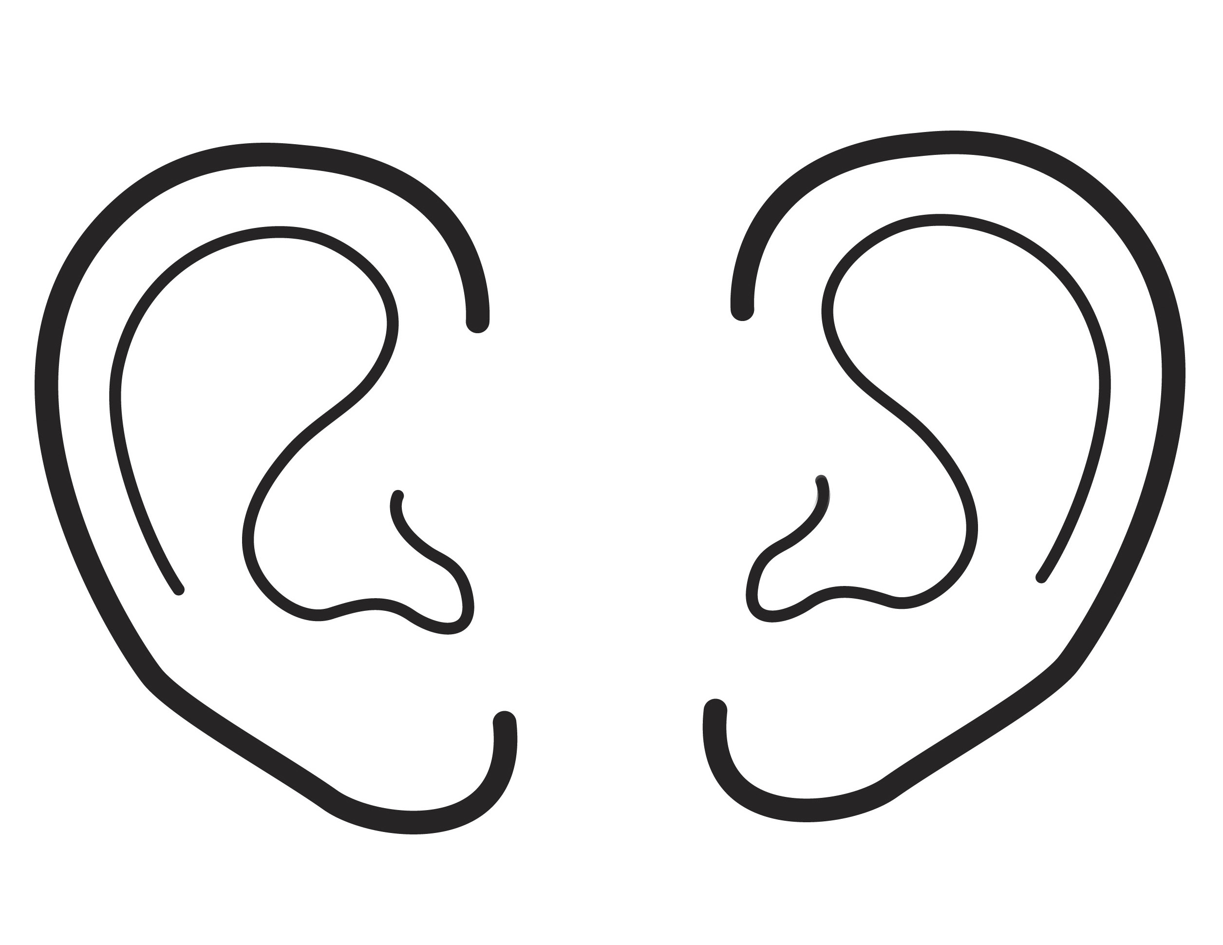 An illustration of two ears.