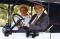 Ezra and Flora Benson in car