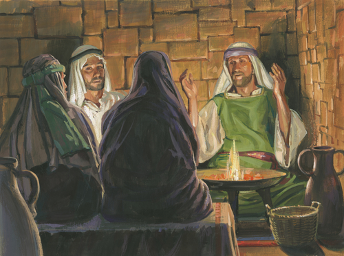 Laman and Lemuel angry with Nephi