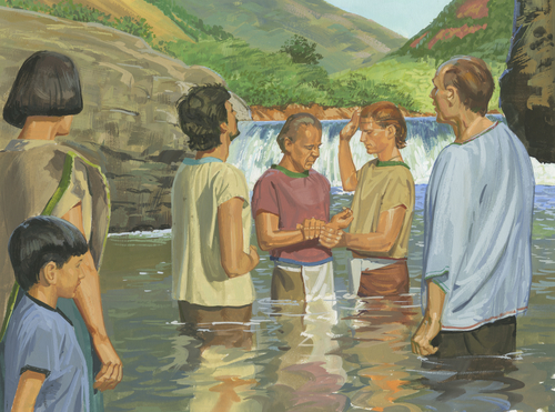 people being baptized