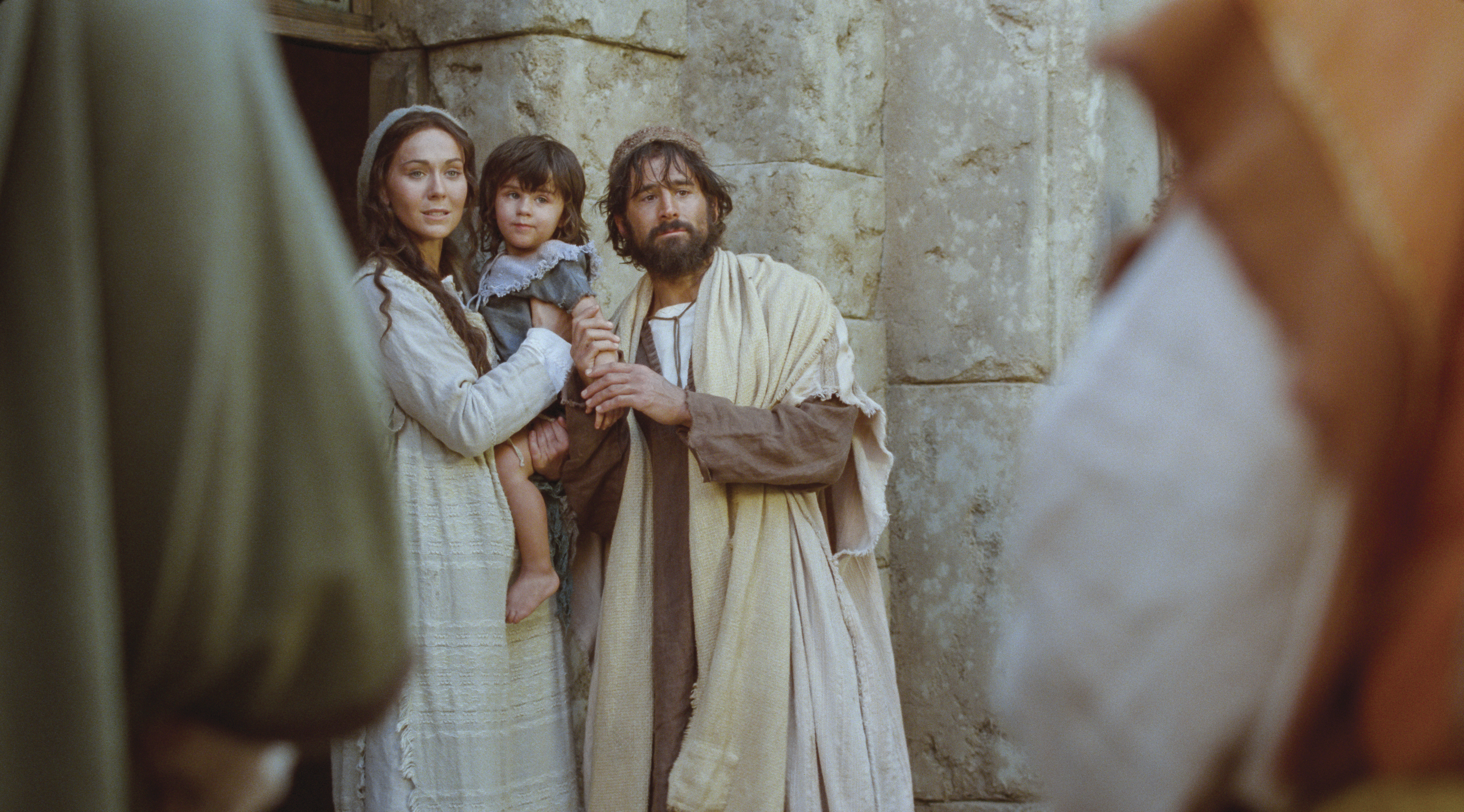 Mary and Joseph come out to see the Wise Men, who present gifts to Christ.