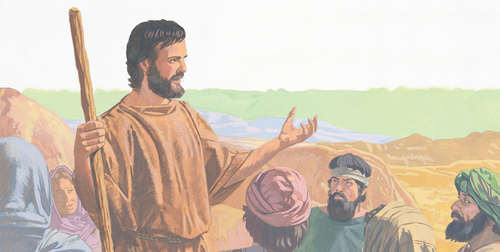 John the Baptist teaching people
