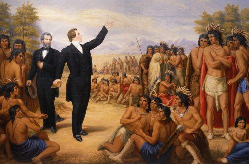 Joseph Smith Preaching to the Indians