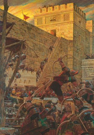 Samuel the Lamanite on the Wall (Samuel the Lamanite Prophesies)