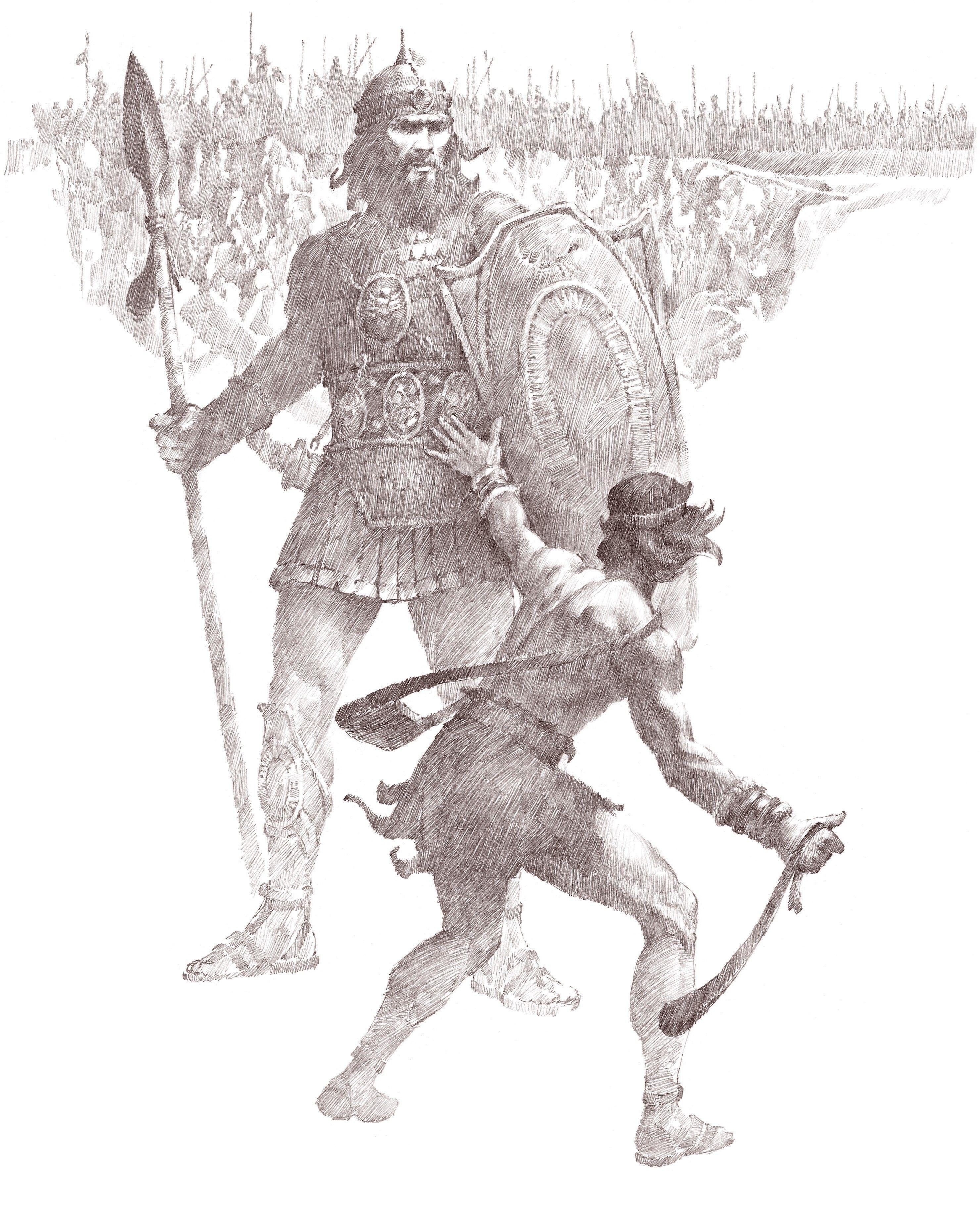 David Slays Goliath, by Ted Henninger (62073); GAK 112; GAB 19; Primary manual 1-52; Primary manual 6-37; 1 Samuel 17