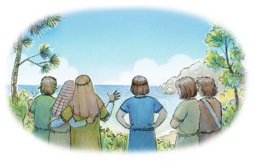 Nephi's Family Crosses the Ocean
