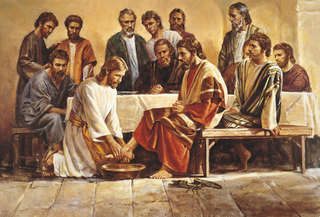 Jesus Washing the Apostles' Feet (Jesus Washing the Feet of the Apostles)