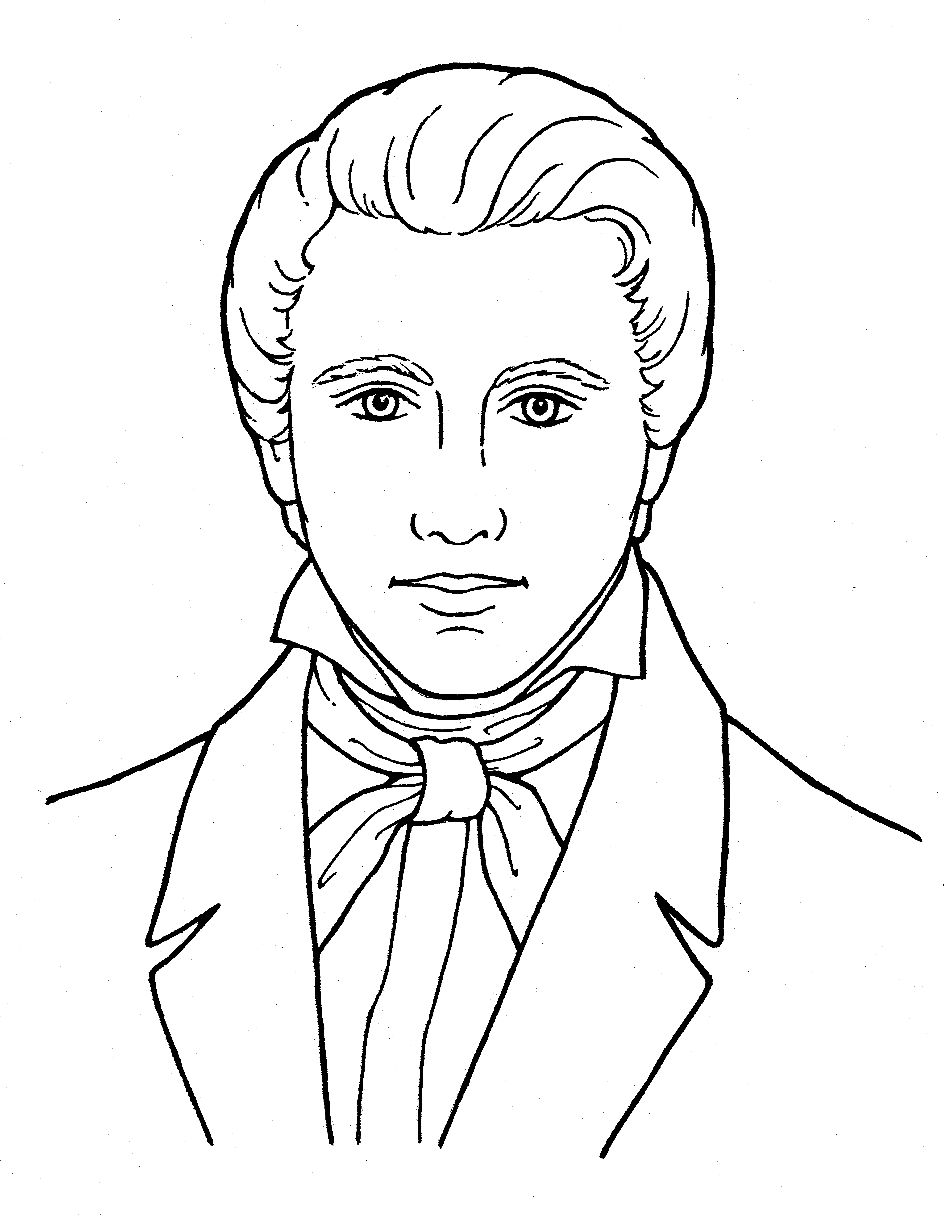 An illustration of Joseph Smith the Prophet, from the nursery manual Behold Your Little Ones (2008), page 107.