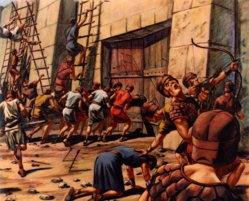 men battling