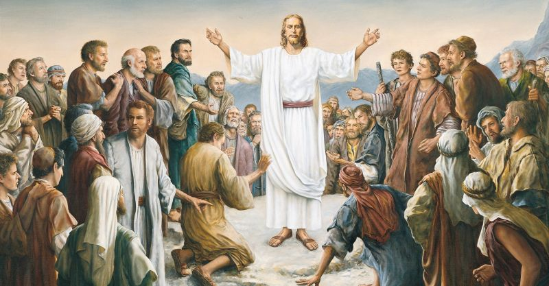 The Resurrected Jesus Christ appears to the five hundred