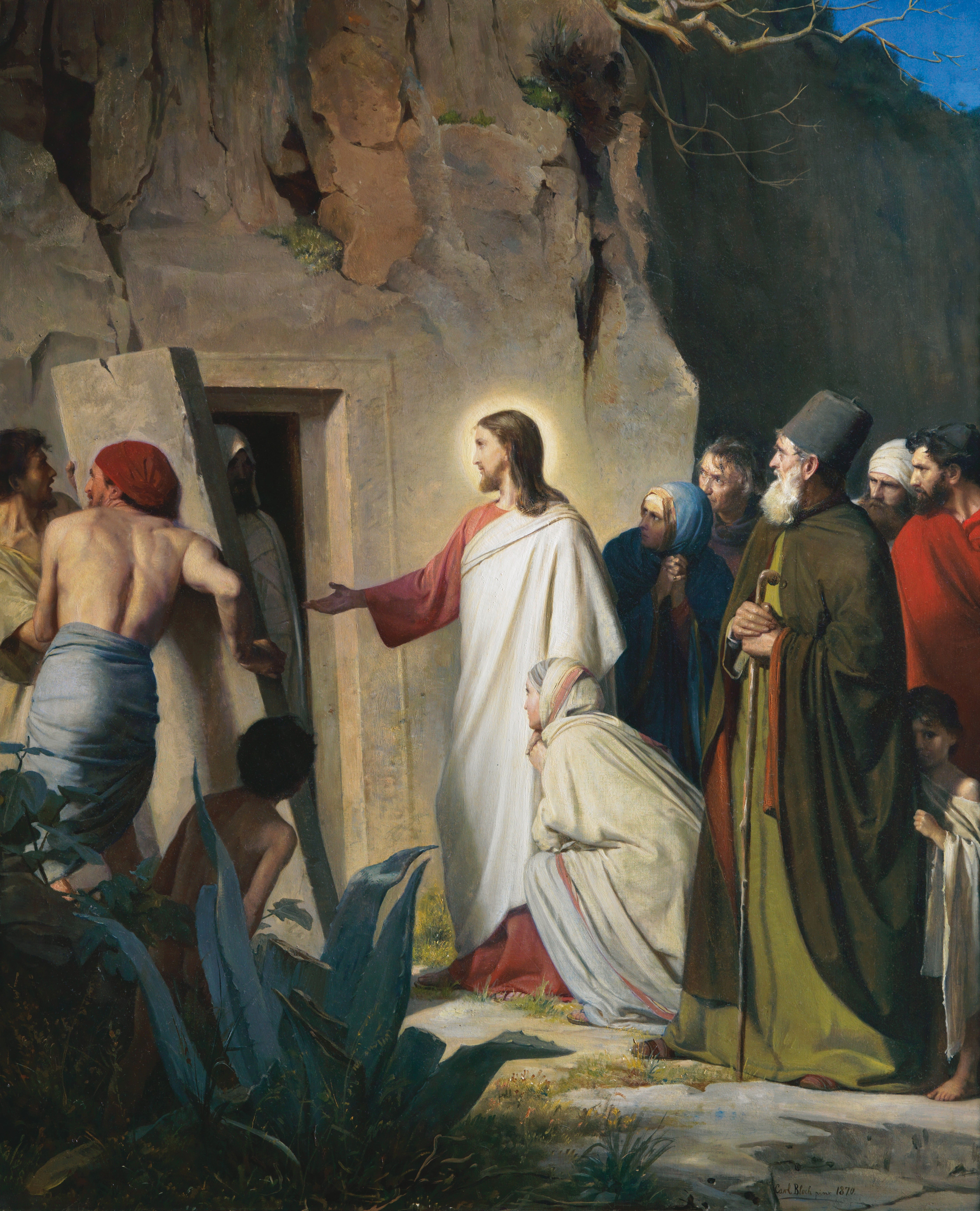 Jesus Raising Lazarus from the Dead (Lazarus), by Carl Heinrich Bloch (62148); GAK 222; GAB 49; Primary manual 7-27; John 11:1–46
