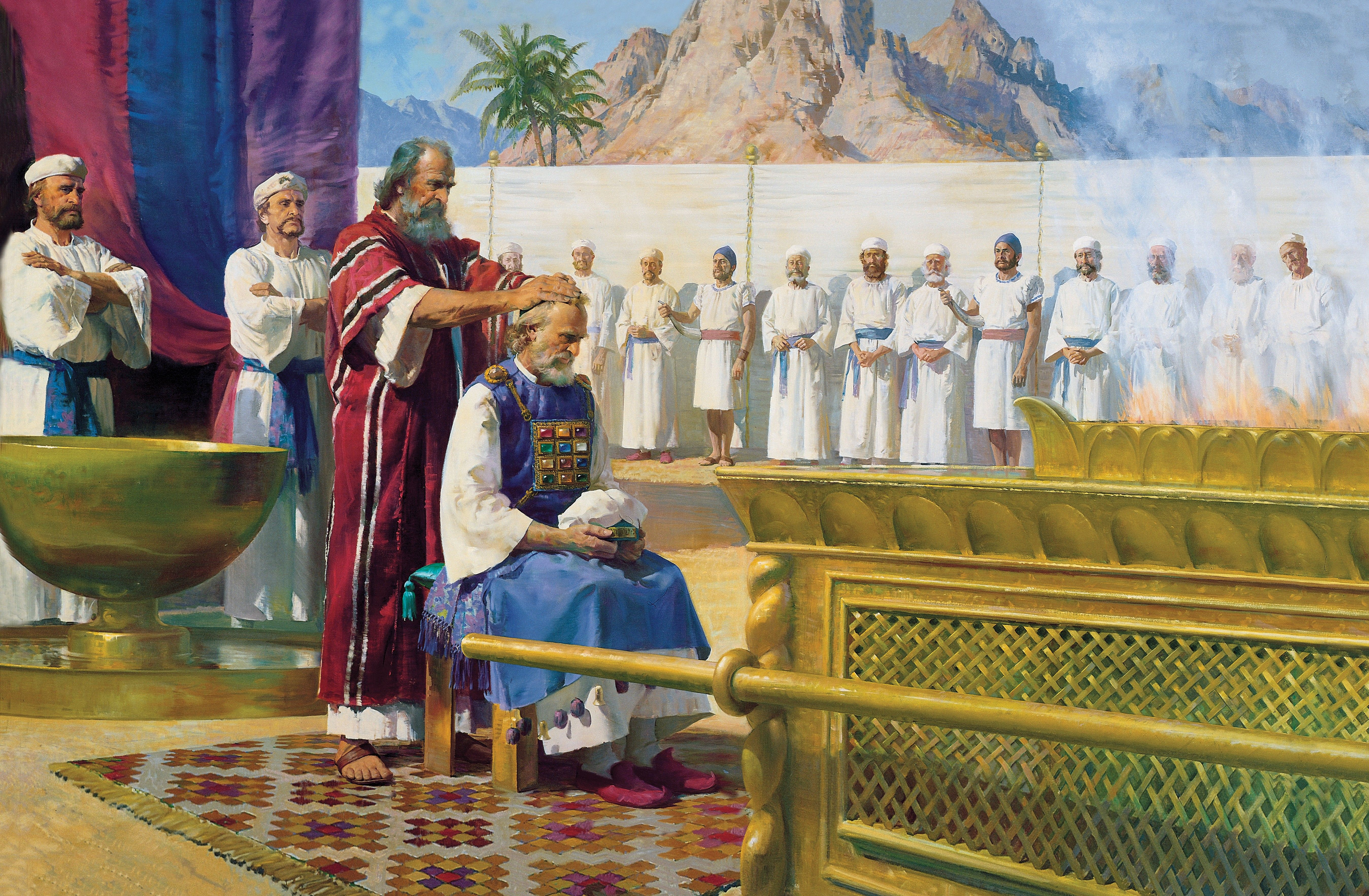 Moses Calls Aaron to the Ministry, by Harry Anderson (62538); GAK 108; GAB 15; Exodus 28:1–29:9; 40:12–15; Hebrews 5:4