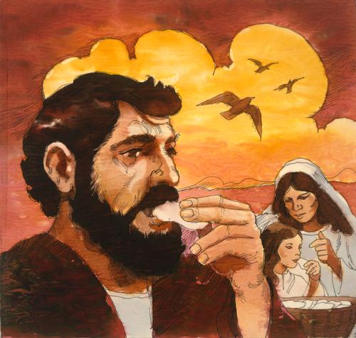 Israelites eating manna