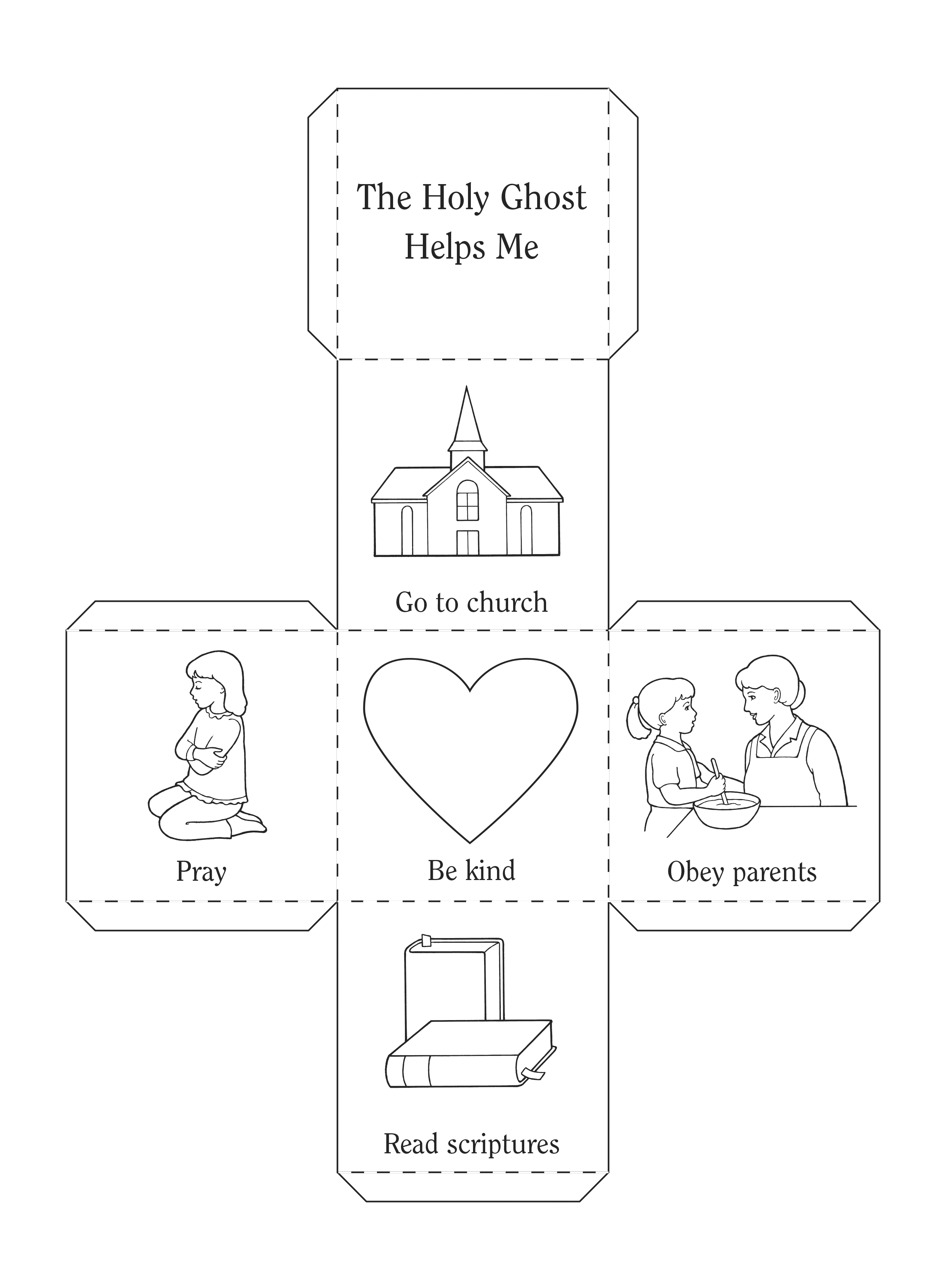An illustration and activity from lesson 6, page 31 in the nursery manual Behold Your Little Ones (2008).