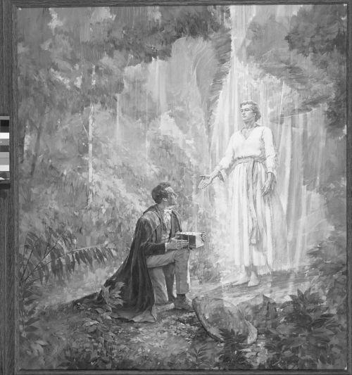 Joseph Smith receiving the plates