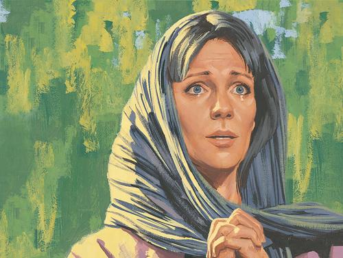 Mary Magdalene crying