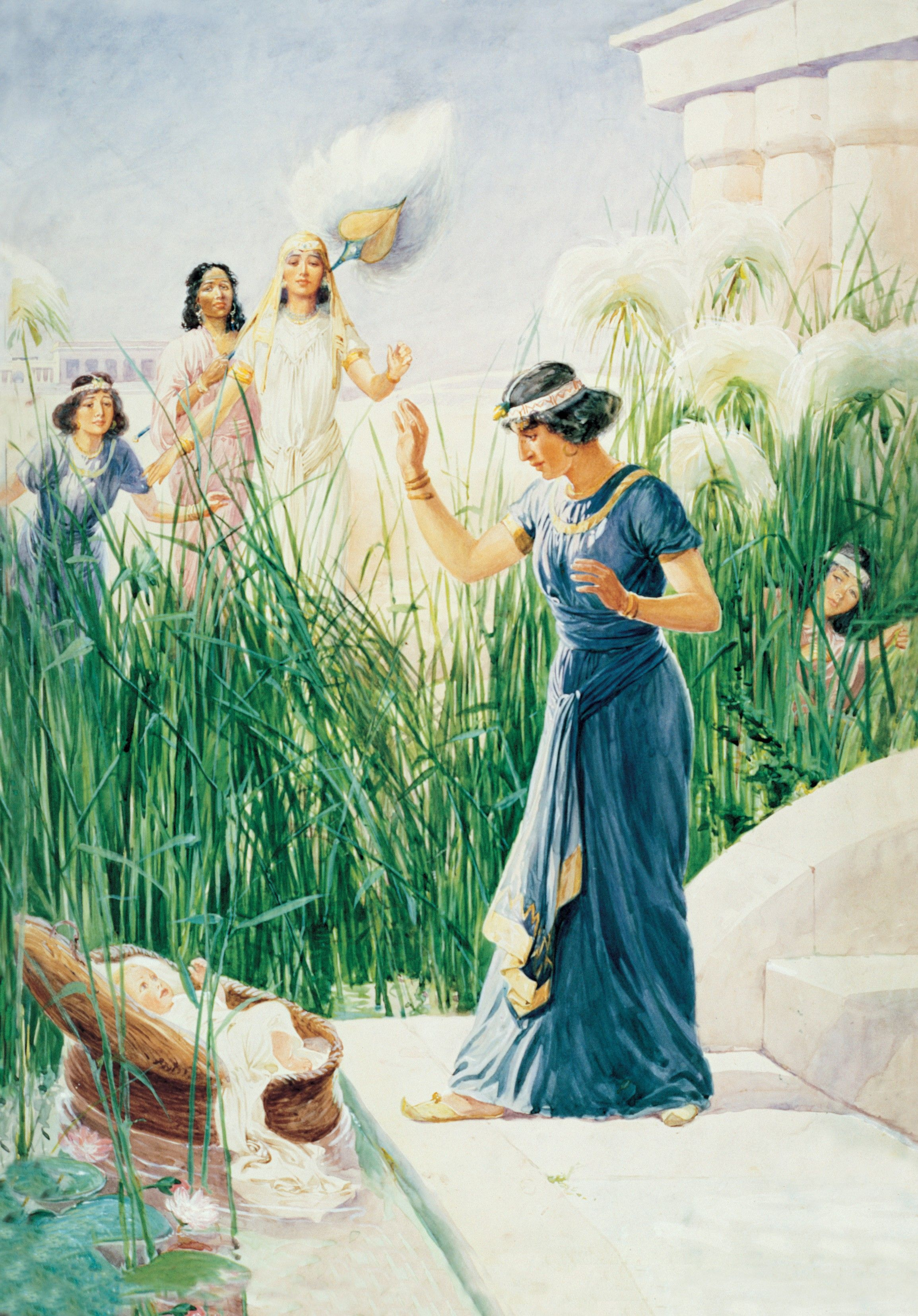 Moses in the Bulrushes, by George Soper; GAK 106; Primary manual 1-66; Primary manual 6-21; Exodus 2:5