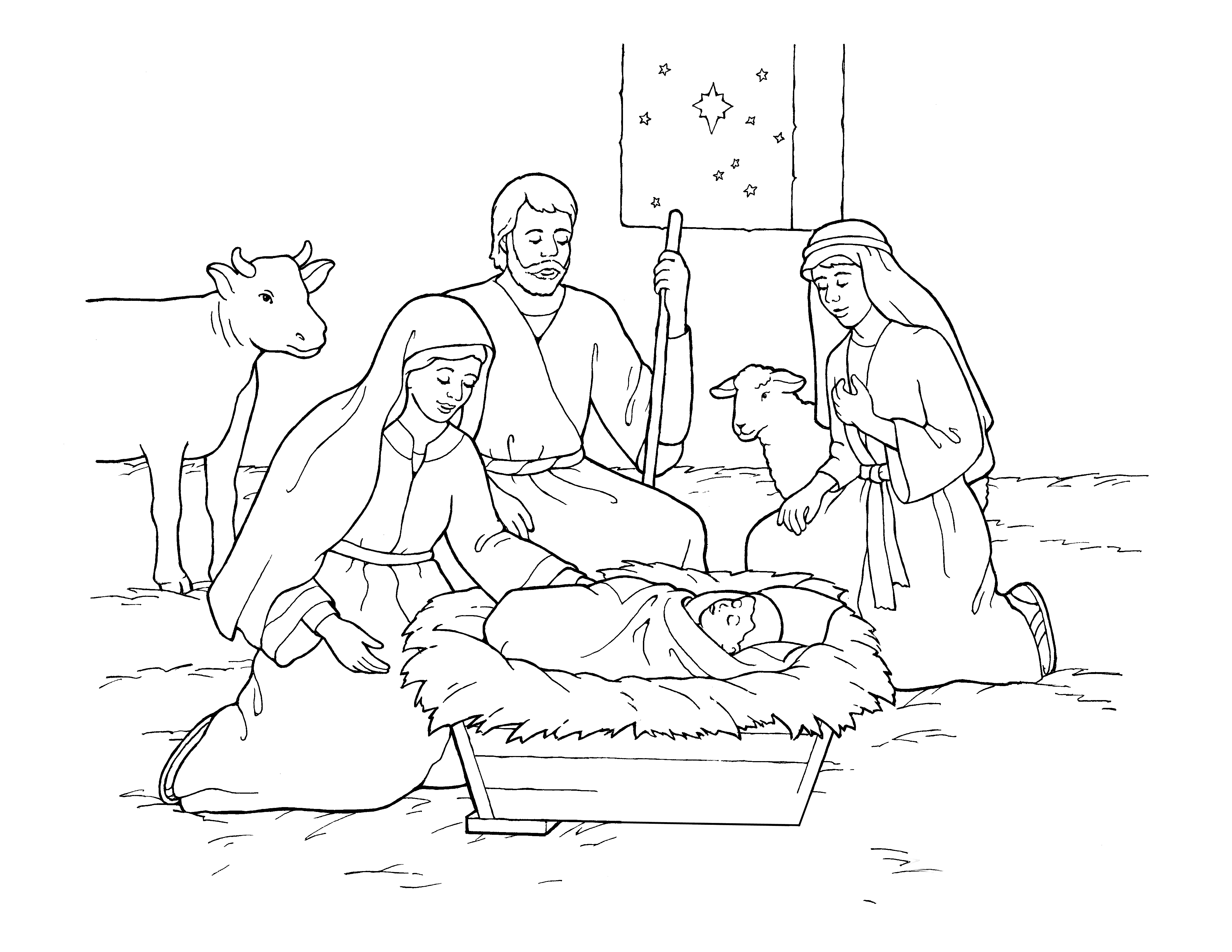 An illustration of the Nativity.