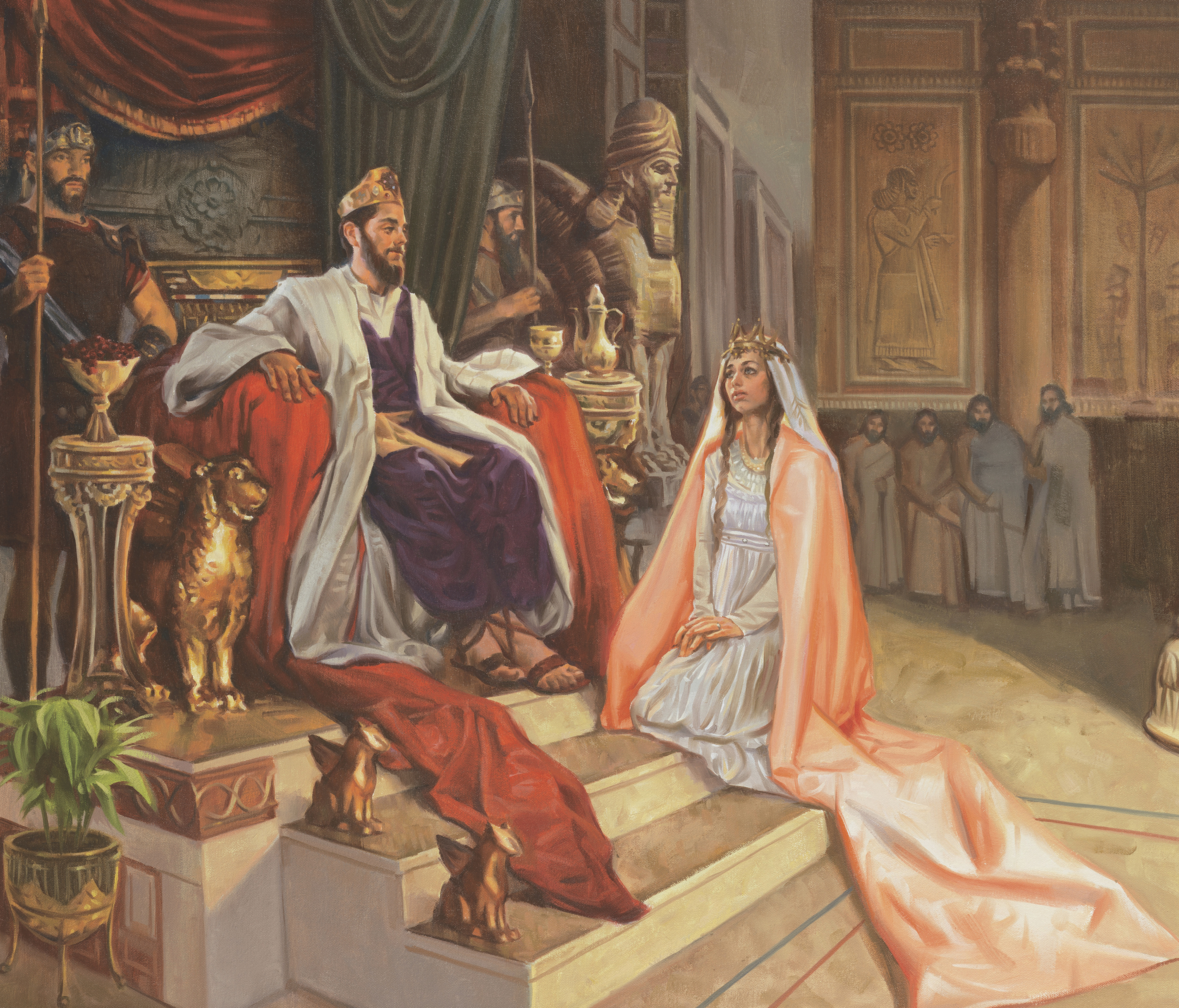 Queen Esther Saves Jehovah's People, by Sam Lawlor