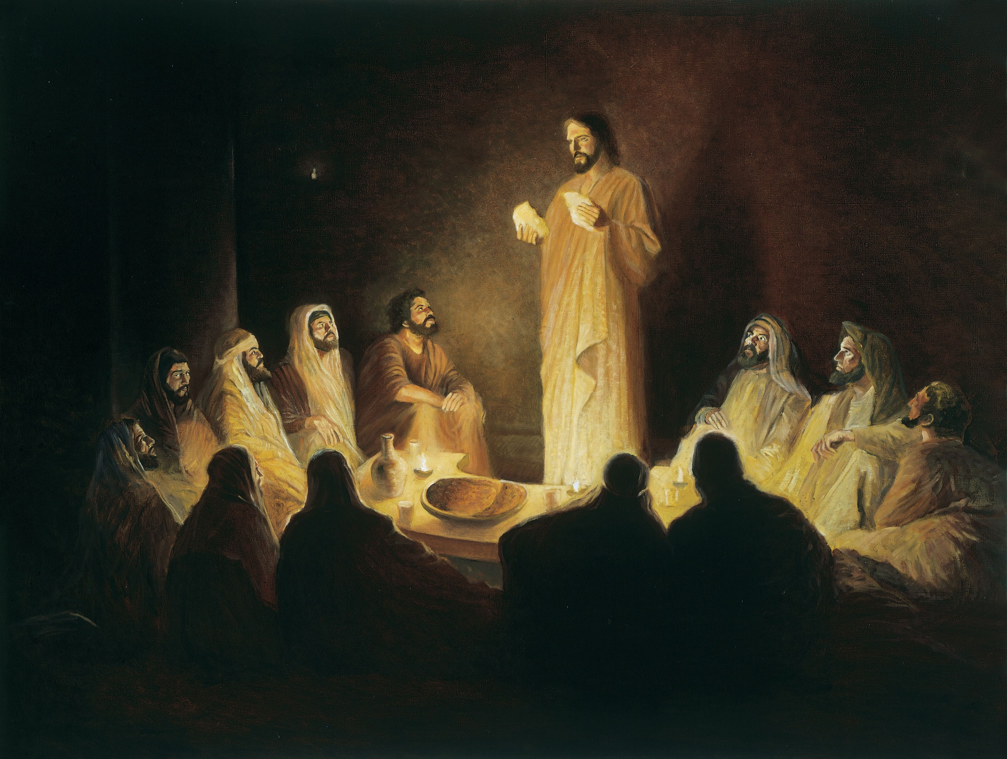 Jesus Institutes the Sacrament, by Gary E. Smith