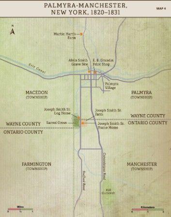 Church History Maps: Palmyra-Manchester, New York, 1820-1831
