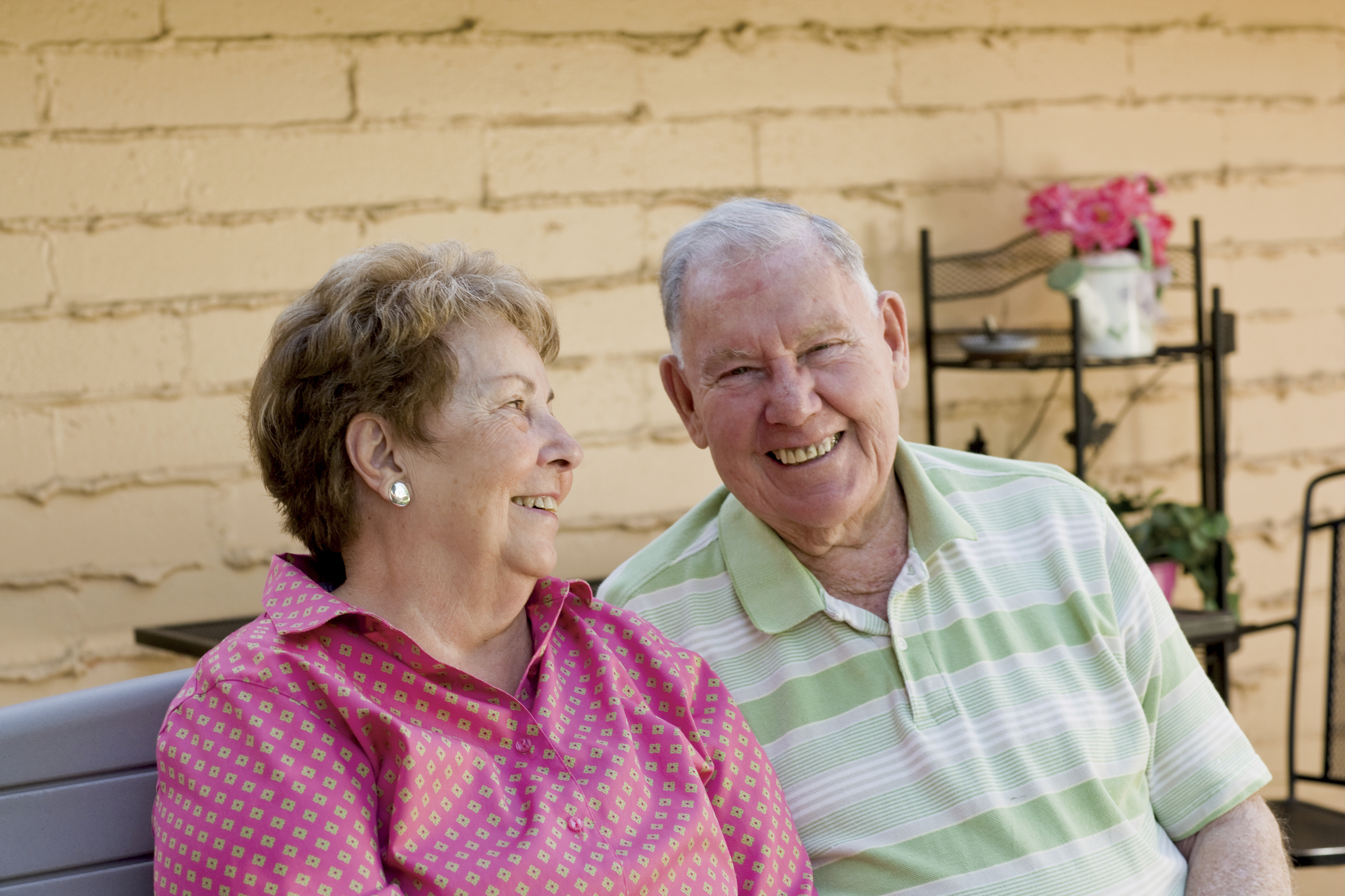 An image of an elderly married couple.
