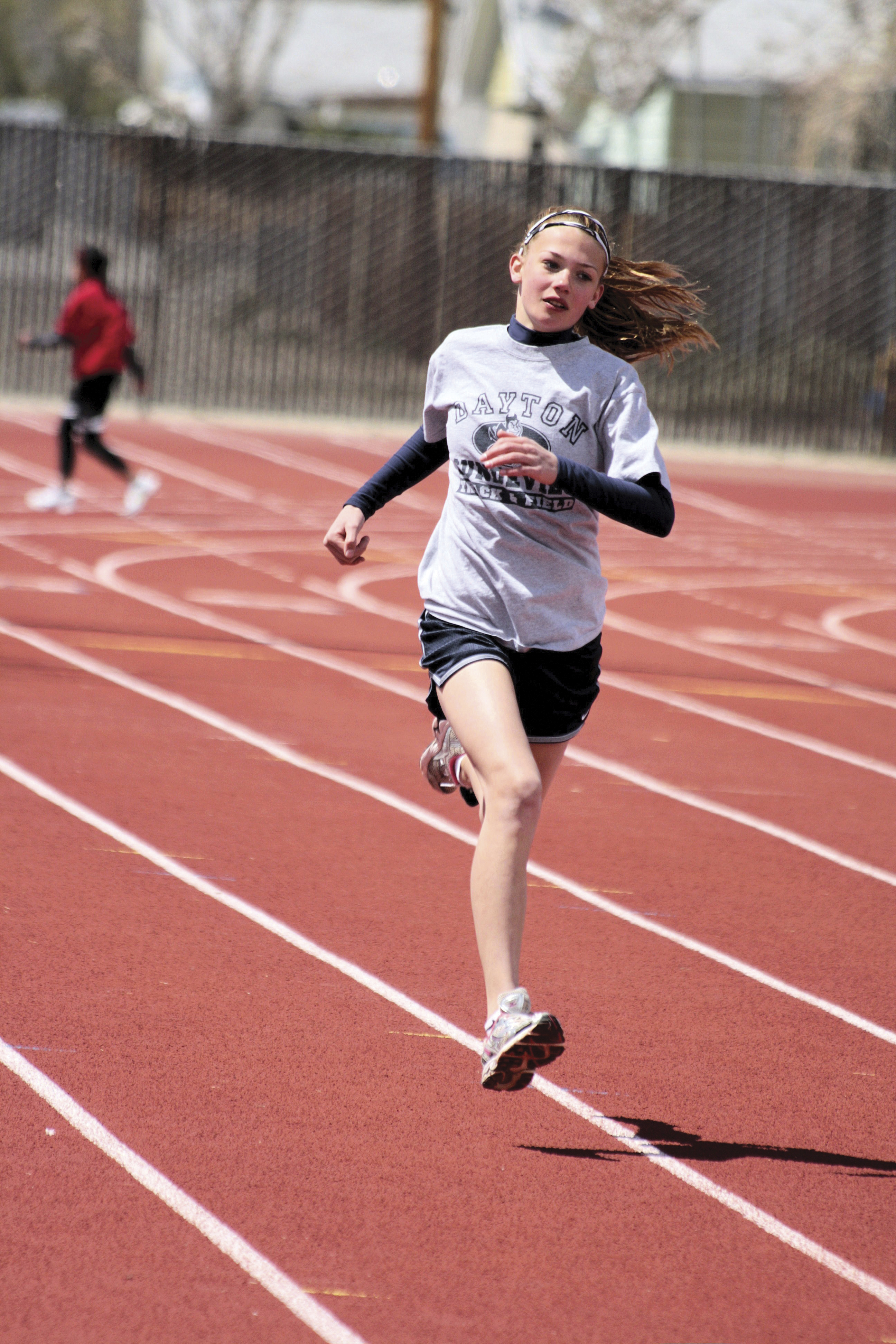 A photograph of a runner competing in a race.