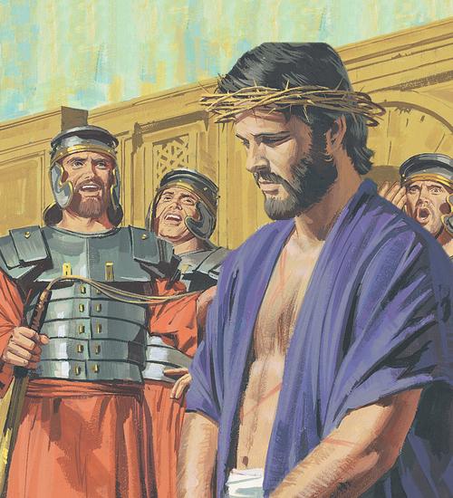 soldiers beating Jesus