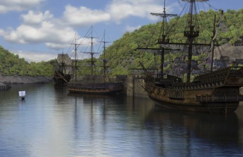 Schiffe im Hafen von Bristol