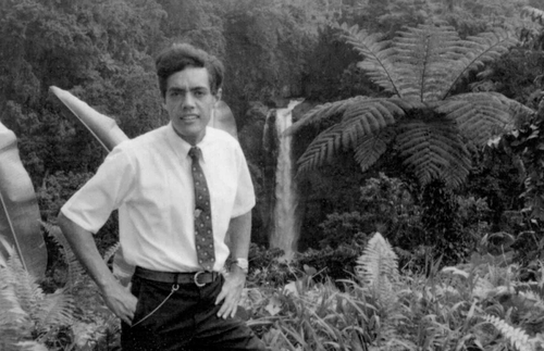Elder O. Vincent Haleck as a young missionary
