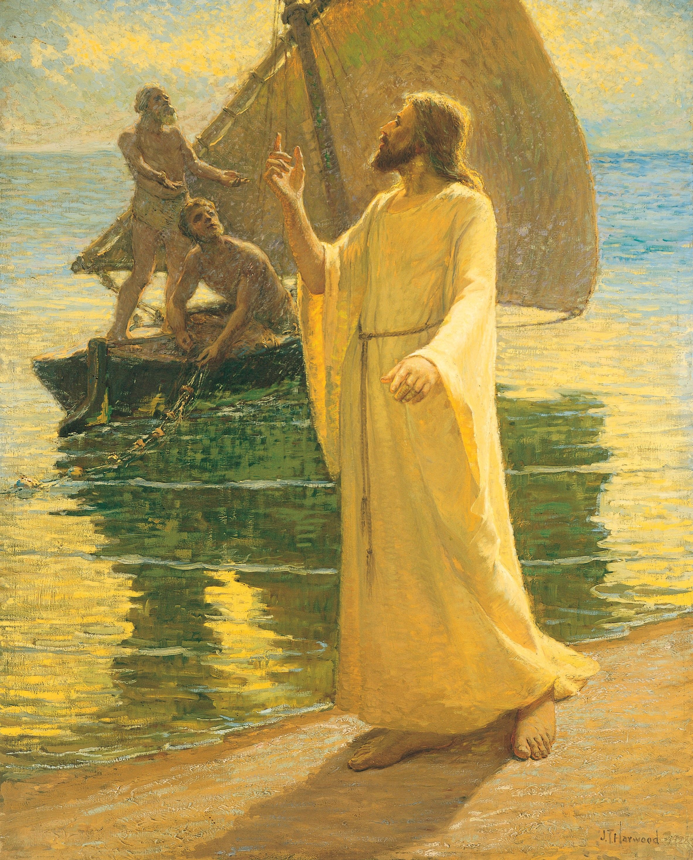 Christ Calling Peter and Andrew, by James T. Harwood