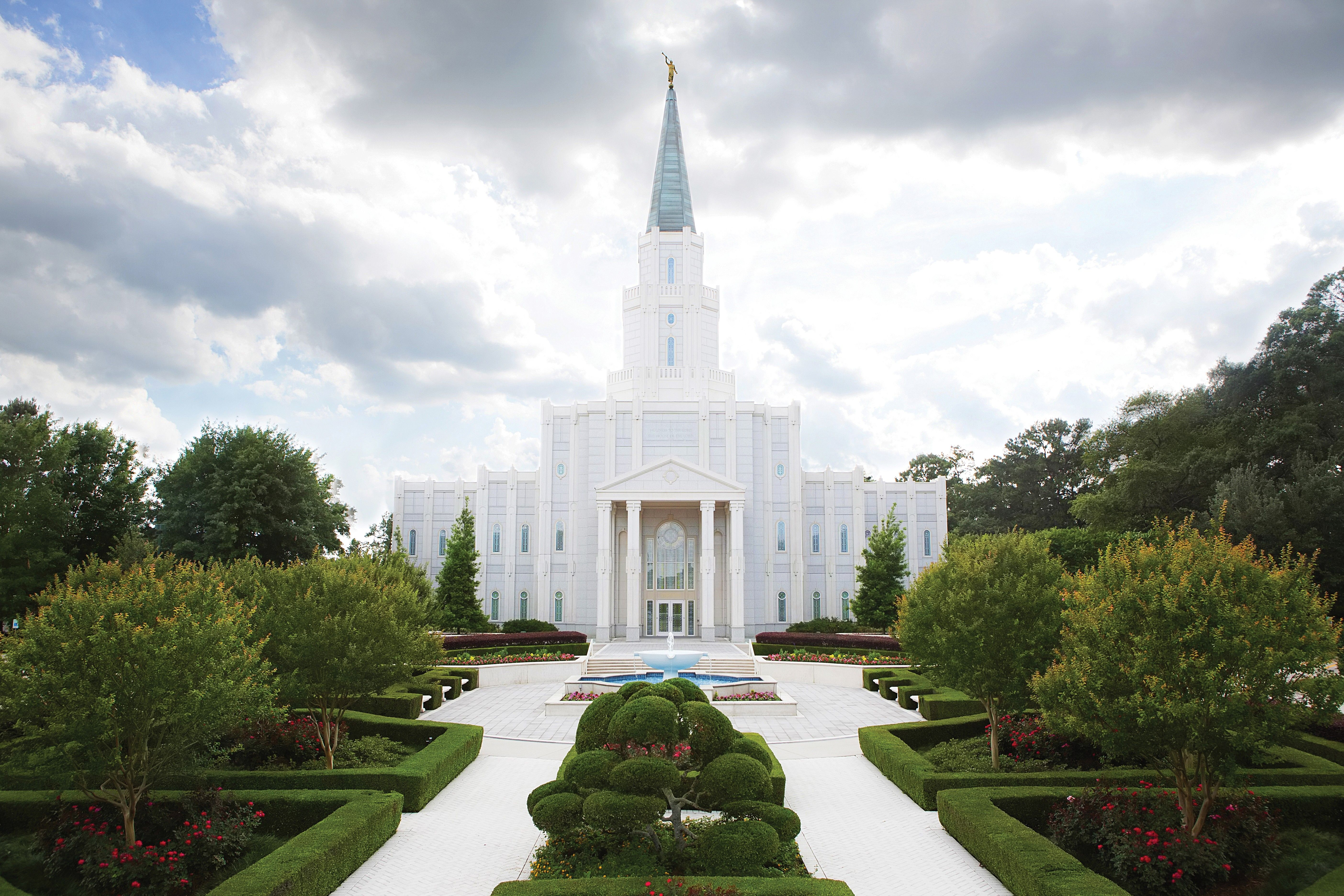 A photograph of the Houston Texas Temple.