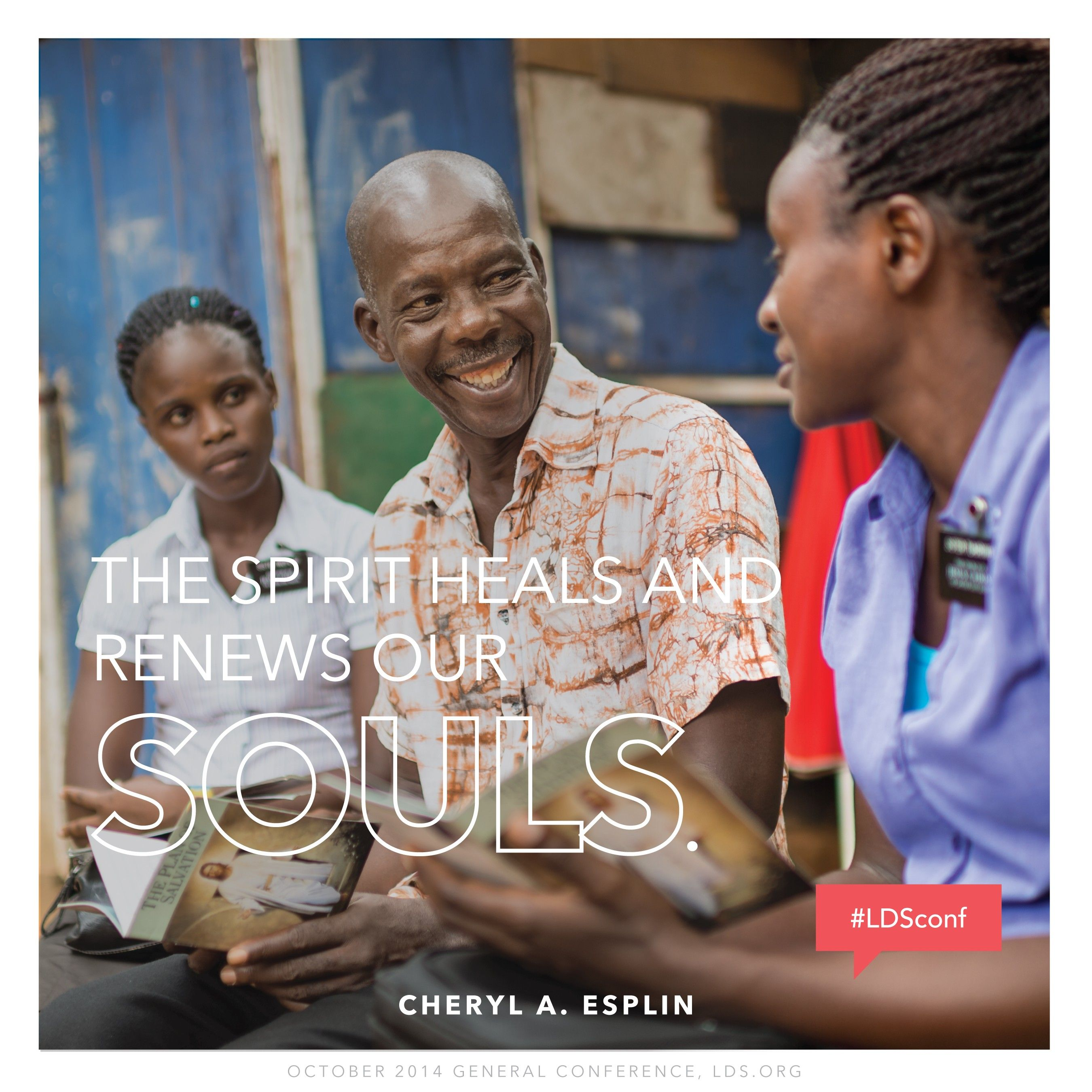"""""""The Spirit heals and renews our souls.""""—Sister Cheryl A. Esplin, """"The Sacrament—a Renewal for the Soul"""""""