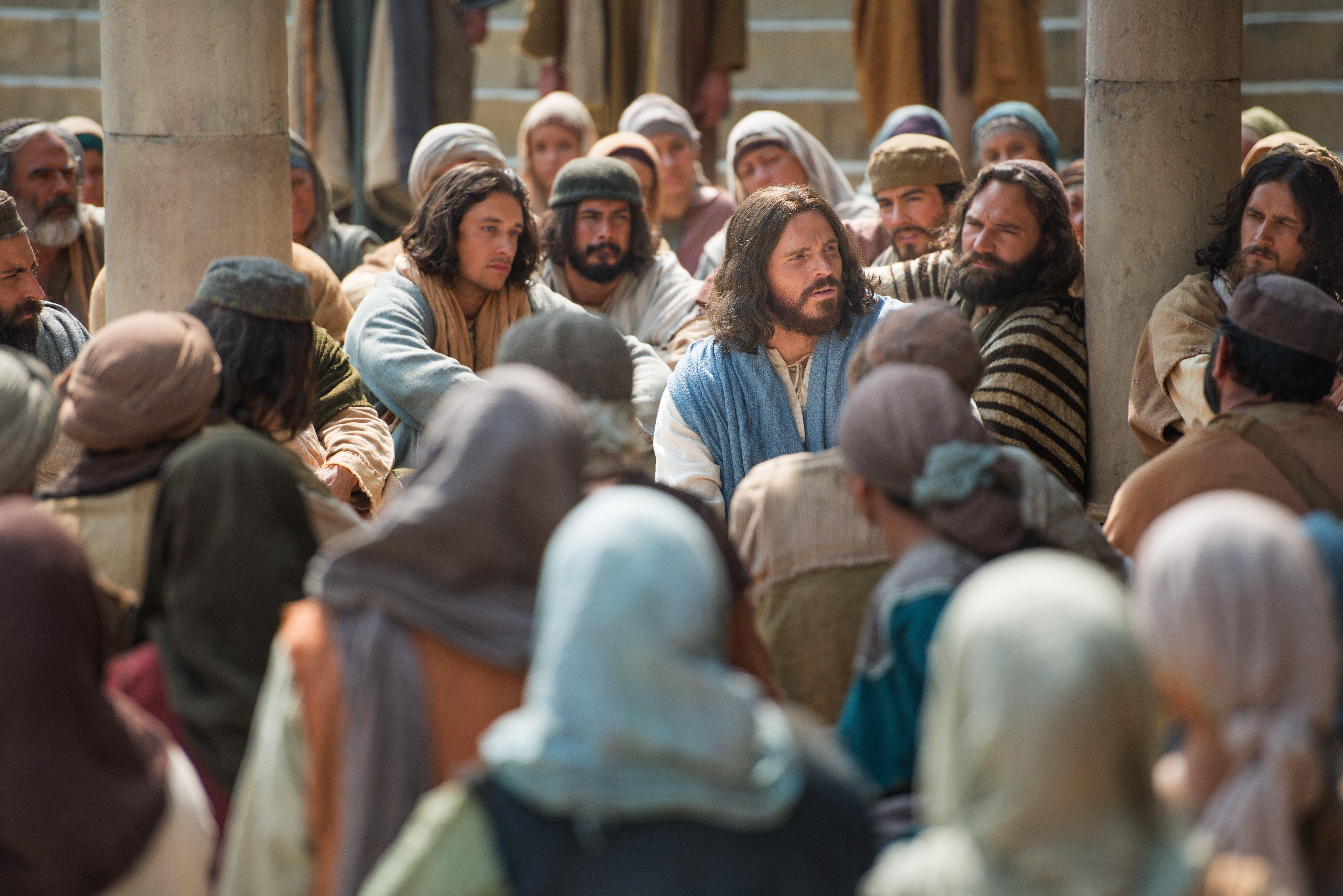Jesus teaches about the greatest commandment.